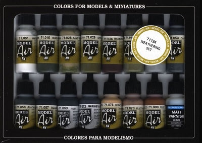 16 COLOR SET WEATHERING SET (16)