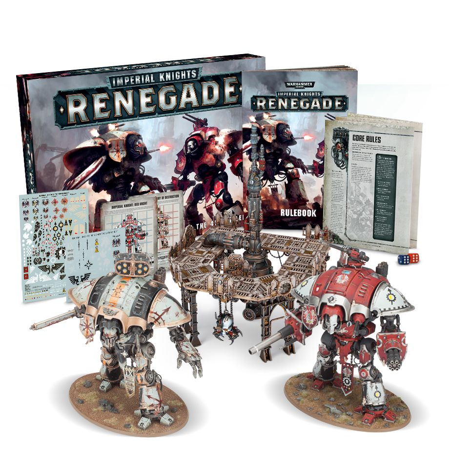 Renegade Set d/'accessoires de règle Dice Warhammer 40k Imperial Knights