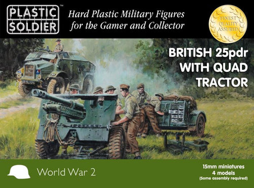 15MM BRITISH 25 PDR AND MORRIS QUAD TRACTOR