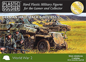 15MM EASY ASSEMBLY GERMAN SDKFZ 251 AUSF C HALF TRACK