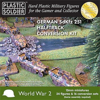 15MM EASY ASSEMBLY GERMAN SDKFZ 251/D CONVERSION KIT X 24