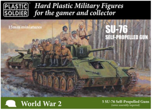 15mm RUSSIAN SU76 SELF PROPELLED GUN X 5