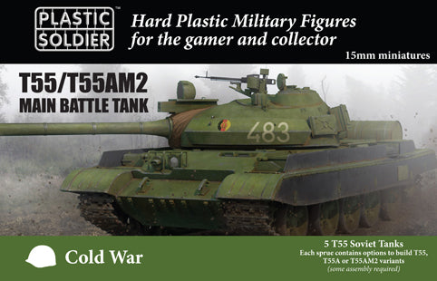 PSC 15mm Modern Cold War T55 Soviet Tank