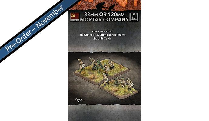82mm or 120mm Mortar Company (x6 teams Plastic)