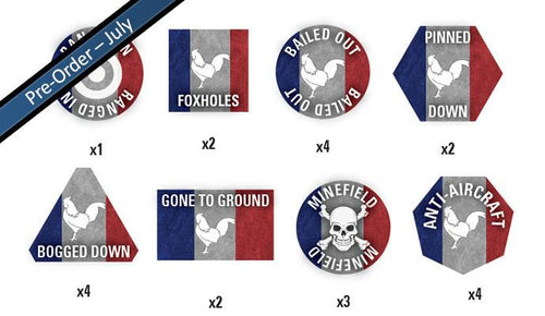 Team Yankee French Token Set