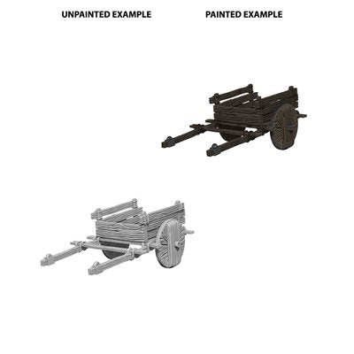 WizKids Deep Cuts Unpainted Miniatures: Wave 4: 2 Wheel Cart