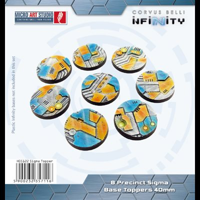 Bases: Precinct Sigma base topper round 40mm (8)