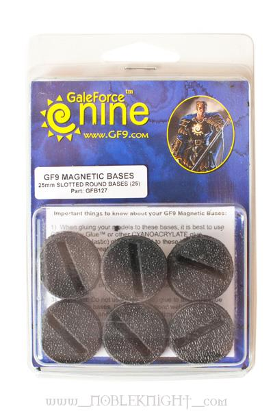 Magnetic 25mm Slotted Round Bases (25)