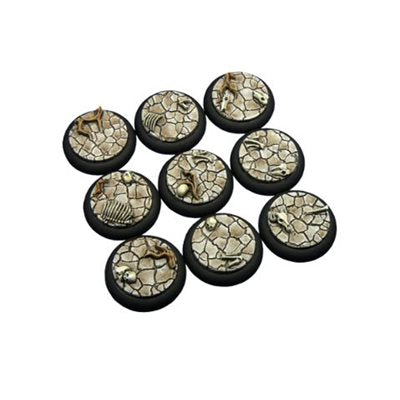 Bases: Wasteland, Round Lipped 30mm (5)