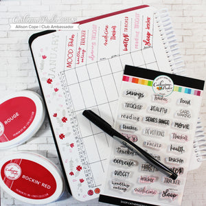 Habit Tracker Stamp Set