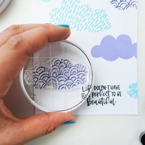 April Showers Stamp sample
