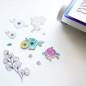 Best Things in Life Floral Stamp Sample