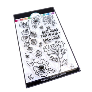 Best Things in Life Floral Stamp