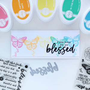 I Pray Today you are Blessed Butterfly slimline card
