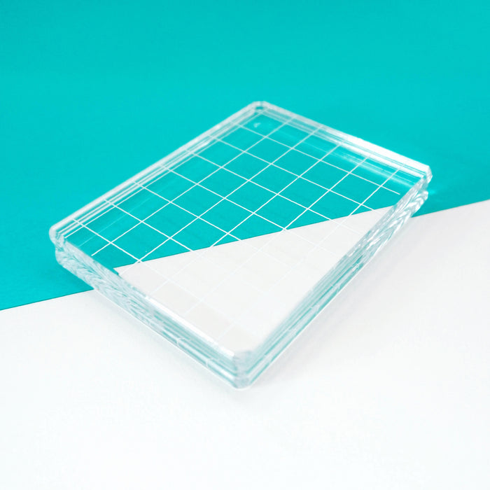 Acrylic Grid Stamping Block 3-1/4 x 4-1/4""