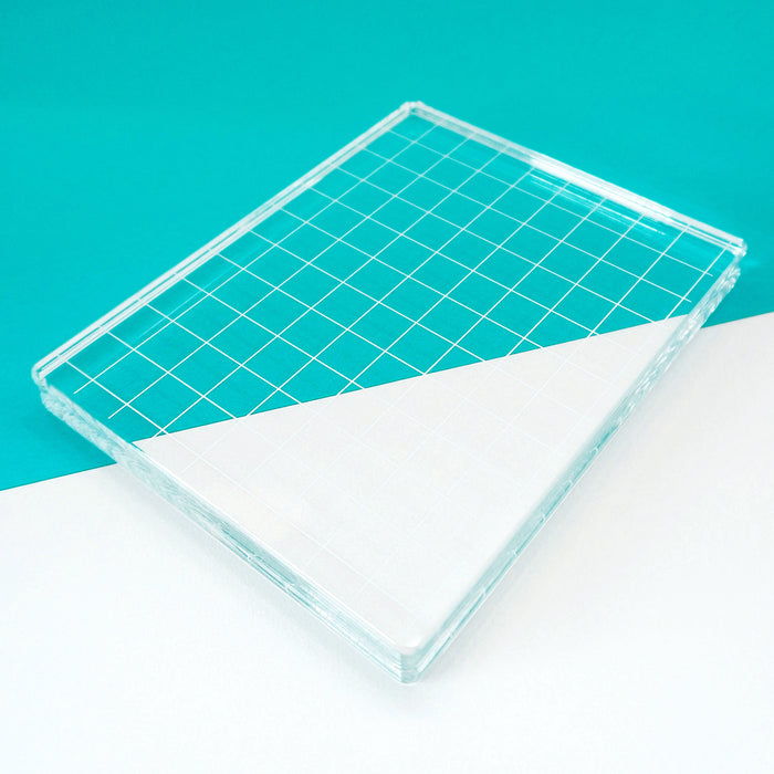 Acrylic Grid Stamping Block 4-7/8 x 6-1/8""