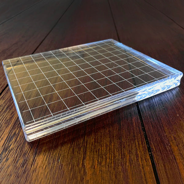 Acrylic Grid Stamping Block 4-7/8 x 6-1/8