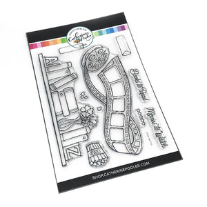 clear stamp set for all bullet journal needs for reading or movie tracking