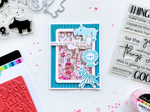 A to Z Background Stamp