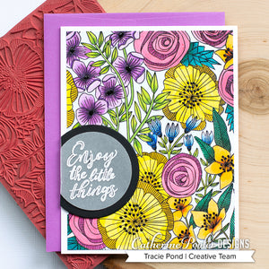 Cottage Garden Background Stamp