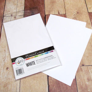 "Premium White Cardstock Notecards - 5.5"" x 8.5"""