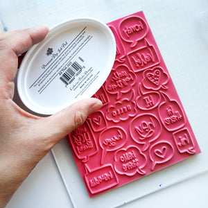 Chatterbox Background Stamp
