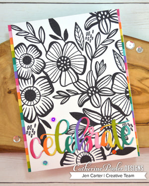 Climbing Flowers Background Stamp