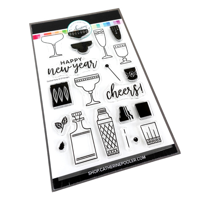 Cocktail Party Stamp Set