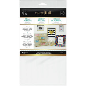 Deco Foil White Foam Adhesive Package