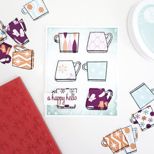 Shining Star Background Stamp