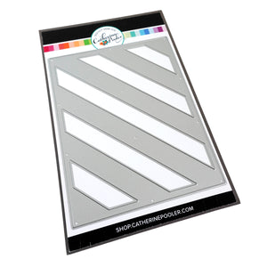 Diagonal Stripes Cover Plate Die