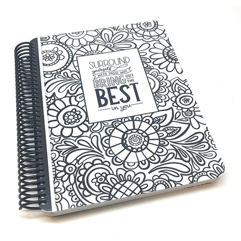 150 page dot grid spiral bound Doodle Garden Canvo bullet journal by catherine pooler
