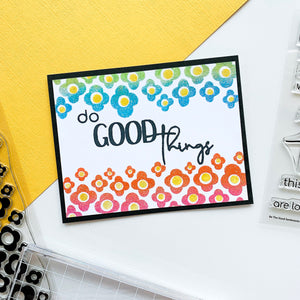 Dots and Flowers Border Stamp Set