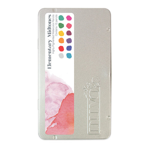 Elementary Midtones WaterColor Pencils by Nuvo