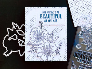 Beautiful Day Black and White Floral Card
