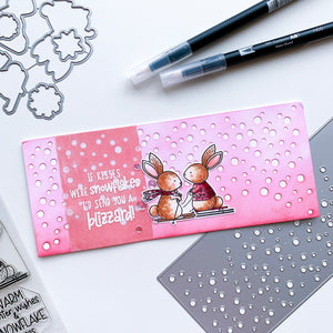 Bunny Slope and Flurries Slimline Card