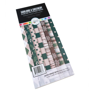 Garland and Greenery slimline Patterned Paper
