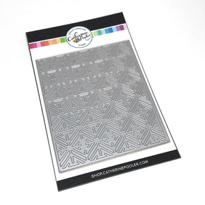 stainless steel craft cover plate die with a geometric snowflake pattern