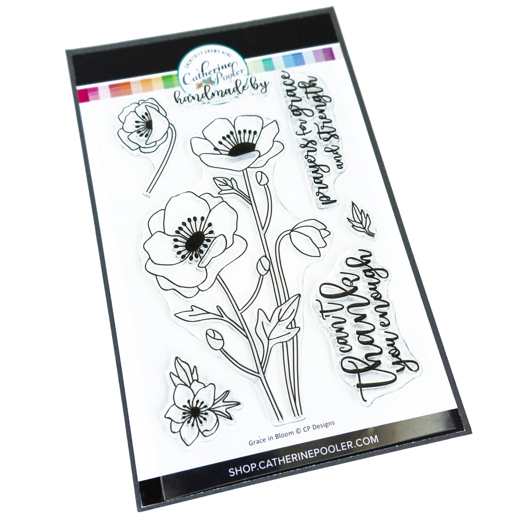 Catherine Pooler Designs Grace in Bloom Floral Stamp Set