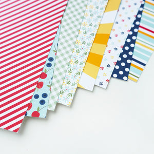 Great Start Patterned Paper laid out