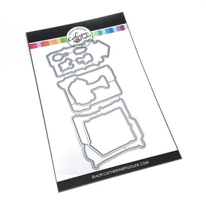 stainless steel House craft dies to match the Happy Place clear stamp set