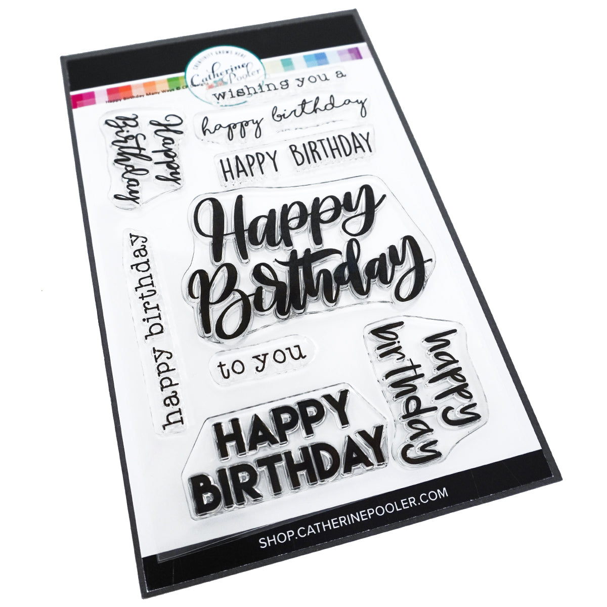 Catherine Pooler Designs Happy Birthday Many Ways Stamp Set