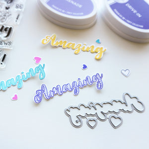 Hello Amazing Stamped out samples