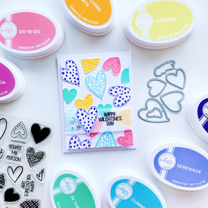 Hip Hearts stamped images to create patterned paper