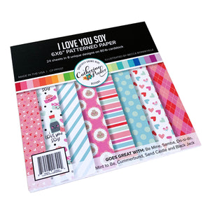 I Love you Soy Patterned Paper Pack