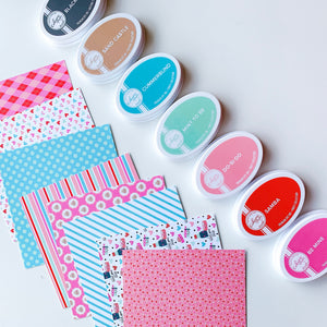 I Love You Soy Patterned Paper with coordinating ink pads