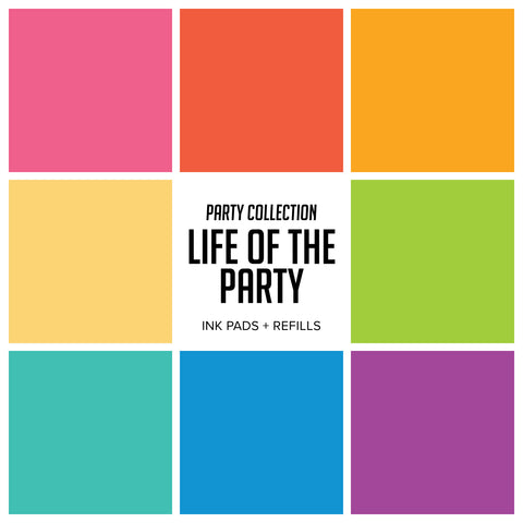 Party Collection : Life of The Party Ink Pads & Refills Bundle
