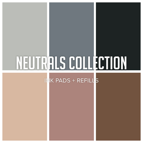 Neutrals Ink Collection: Ink Pads & Refills Bundle 6 colors