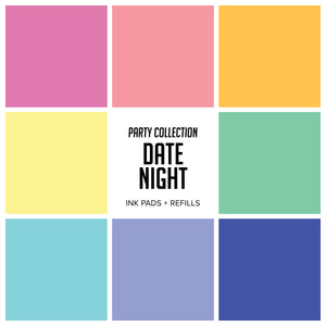 Party Collection : Date Night Ink Pads & Refills Bundle 8 Colors