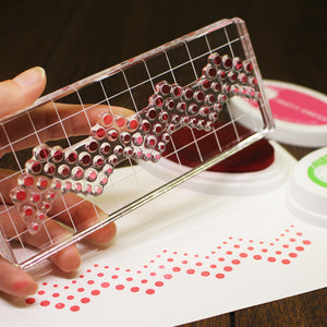 Acrylic Grid Stamping Block 2-1/2 x 6-1/8""